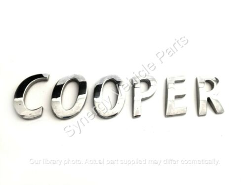 BMW Mini Cooper Chrome Lettres OEM Set Hayon badge emblème logo 2006-16