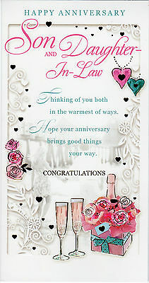 Son and daughter in law anniversary card~wedding anniversary cards~