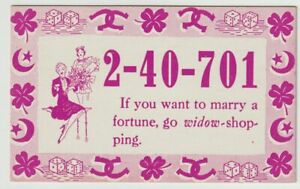 Unused-Postcard-Comic-Mutoscope-Lucky-Number-Want-to-Marry-a-Fortune