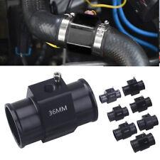 36mm Water Temp Temperature Joint Pipe Sensor Gauge Radiator Hose Adapter Black