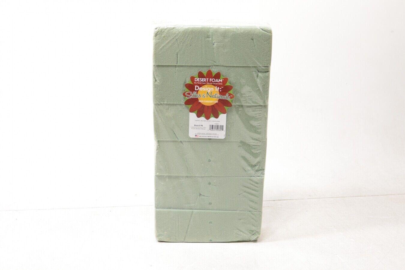 Floracraft Styrofoam Dry Foam Blocks 6//pkg-2.625-inch x 3.5-inch x 7.875-inch