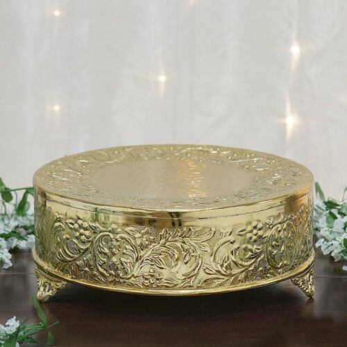Round Wedding Cake Stand Riser Floral Design Party Decorations Supplies SALE