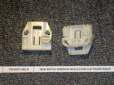VW New Beetle Window Regulator Repair 2 UPGRADE Clips FRONT PAIR left or right