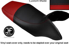 BLACK & DARK RED VINYL CUSTOM FITS HONDA TRANSALP XL 700 V 08-12 DUAL SEAT COVER