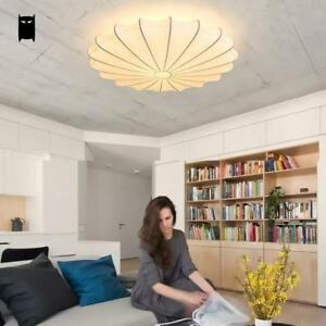 Details about White Silk Ceiling Light Fixtures Chinese Loft Ceiling Lamp  Bulb Girls Bedroom