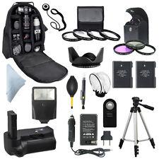 Nikon D3100 D3200 D3300 Battery Grip + Backpack + EN-EL14A Camera Bundle