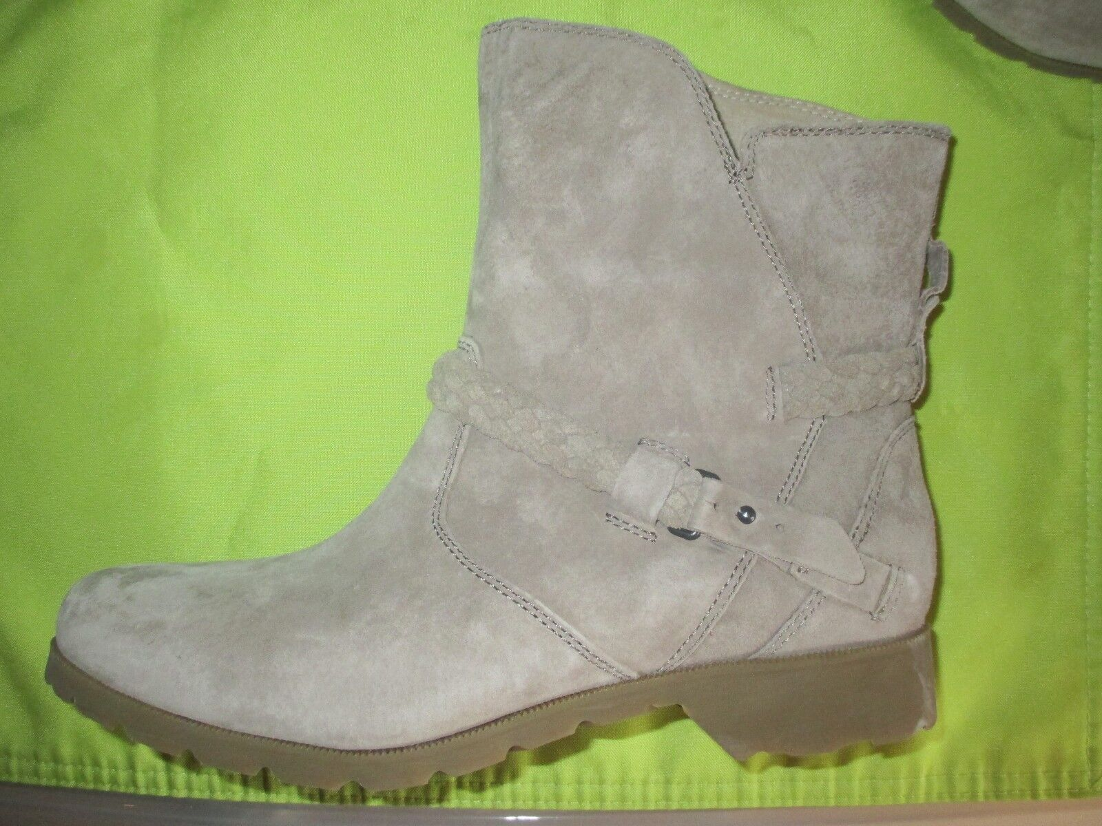 NEU TEVA Delavina ANKLE BOOTS Schuhe LEATHER 9.5 120 Retail Tan Suede