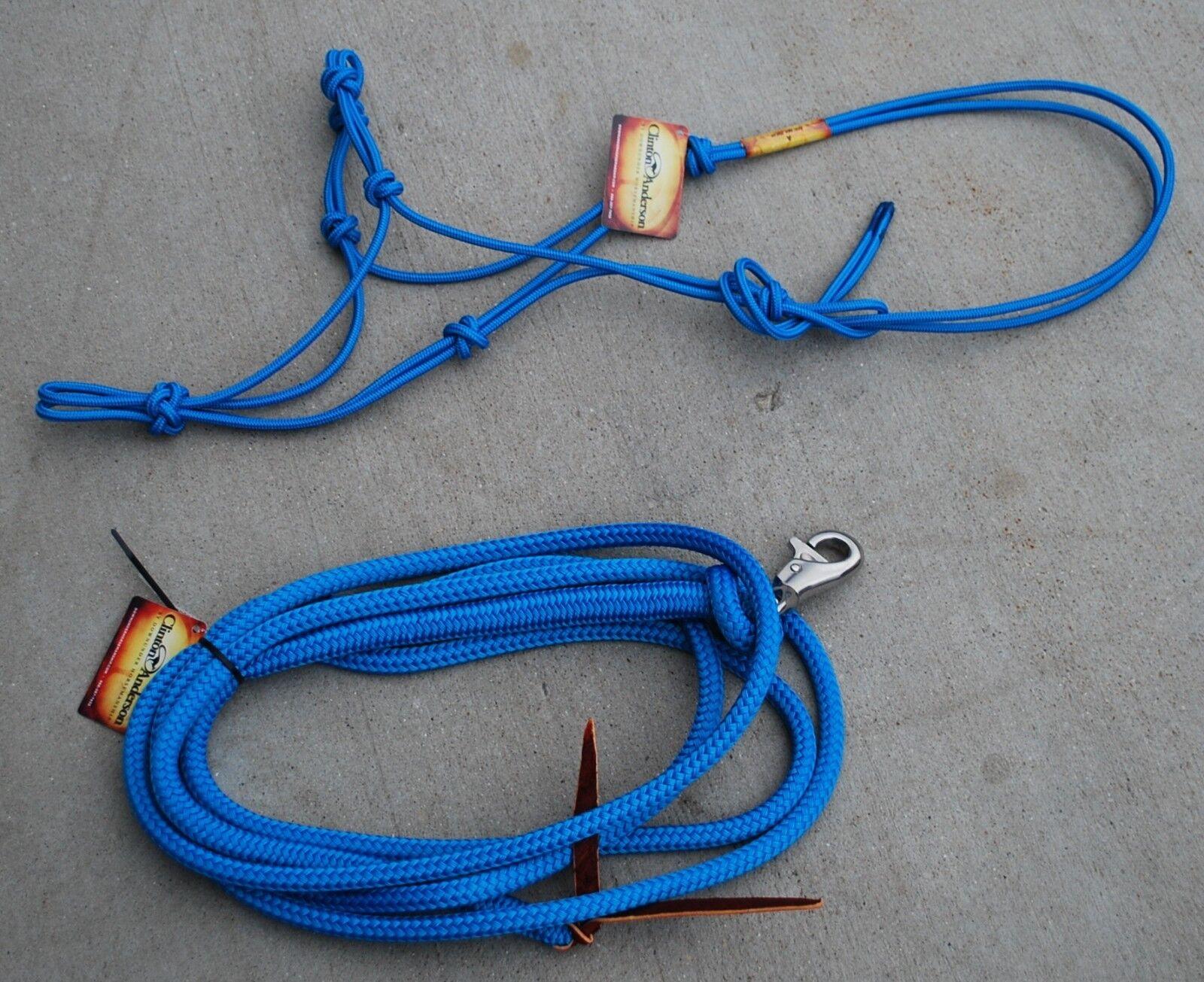 Clinton Anderson Azul Halter & Juego De Cuerda De Plomo  Nuevo