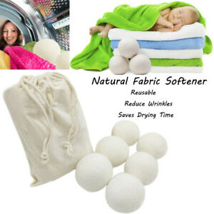 Sheep-6-Pack-Premium-Wool-Dryer-Balls-Reusable-Natural-Fabric-Softener-6CM-Hot