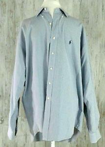 Polo-Ralph-Lauren-Men-039-s-Size-L-Blaire-100-Cotton-Shirt-Button-Down-Blue-Checks