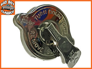 Polished Stainless Steel SAFETY Rad Radiator Cap 13lbs