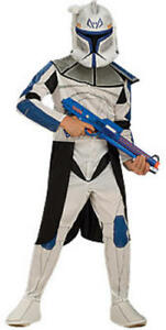 Clone Trooper Mask Boys Fancy Dress Star Wars Kids Childs Costume Outfit New