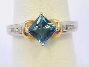 2703-10K-TWO-TONE-GOLD-BLUE-TOPAZ-amp-DIAMOND-RING-APPROX-1-28CT-3-90GRAMS-SZ-7