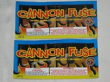 """(2) Great Grizzly """"CANNON FUSE"""" Labels +"""