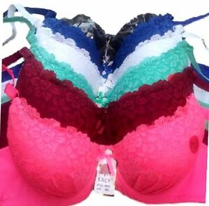 PACK-OF-6-pcs-BRAS-UNDERWIRE-LACE-Push-Up-Bra-CUP-SIZE-34-44-B-C-D-NEW-99946