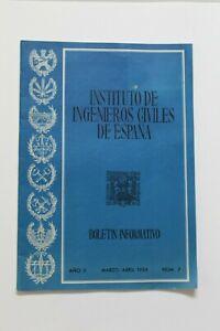 Antiguo Boletin Informativo INSTITUTO DE INGENIEROS CIVILES DE ESPAÑA,  Año 1954