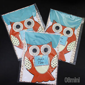 New lot 3 handcraft 3d owl bird blank greeting cards envelopes nwt image is loading new lot 3 handcraft 3d owl bird blank m4hsunfo