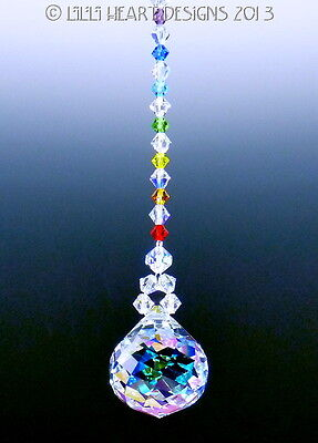 m/w Swarovski 30mm Aurora Mozart w/ Chakra Colors SunCatcher Lilli Heart Designs