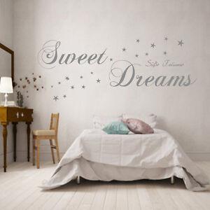 Wandtattoo-Schlafzimmer-Sweet-Dreams-Suesse-Traeume-90588c-Wand-Spruch-Sterne