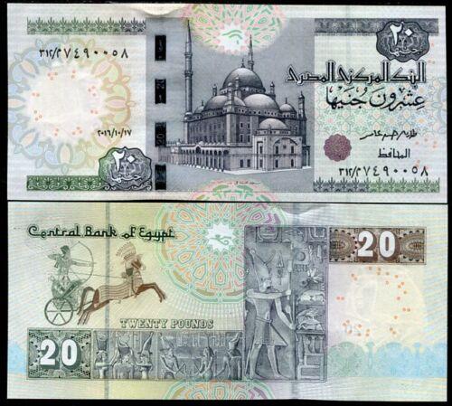 EGYPT 20 POUNDS 17 OCT 2016 P 65 UNC