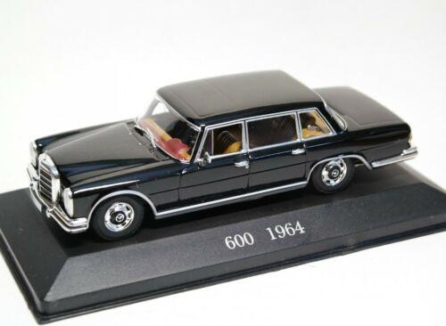 Mercedes Benz 600 1964 Black MB056 Altaya 1:43 New in a box! W100