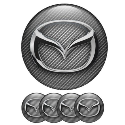4 Stück 70mm Mazda Aufkleber Nabendeckel Emblem für Felgen Radkappen Logo