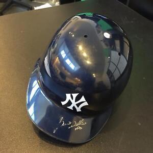 1998 Bernie Williams Signed Game Used New York Yankees Helmet PSA DNA & JSA COA