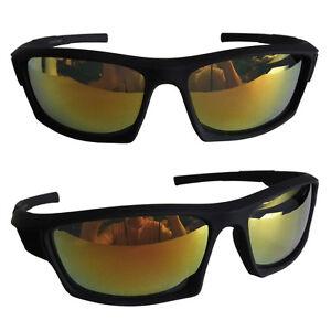 EAKS-Herren-Designer-Sport-Biker-Hip-Hip-Sonnenbrille-gelb-orange-verspiegelt