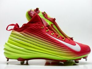 new style c7e80 3dc4a Image is loading NIKE-LUNAR-VAPOR-TROUT-BASEBALL-CLEAT-WHITE-VOLT-