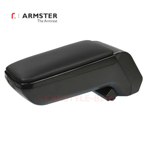 Black VW POLO MK5 /'2009-2017 Armster S Armrest Centre Console Arm Rest