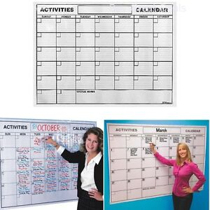 laminated jumbo wall calendar. dry erase board large big hanging