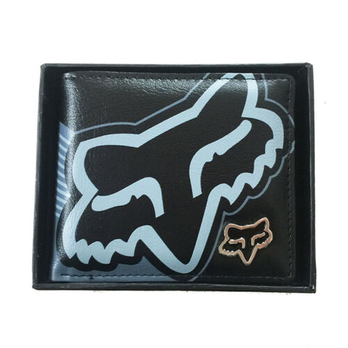 New with Box FOX Men/'s Surf Synthetic Leather Wallet  Great Gift #19