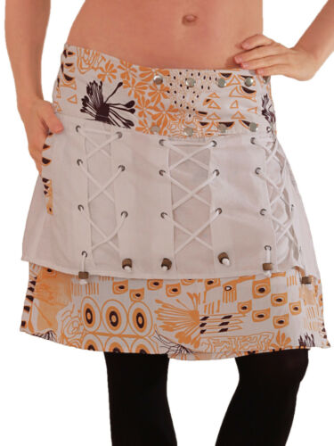 Wickelrock aus Baumwolle mit Tasche 6 Einheitsgröße Goa Urlaub Rock Modell Nr