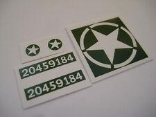 Dinky 669 U.S Military Jeep ( Green ) Stickers - B2G1F