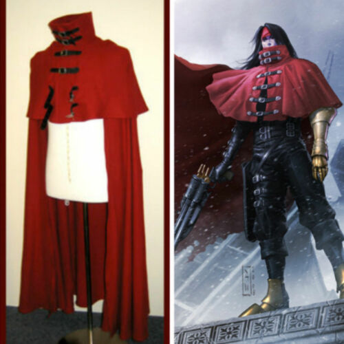 T 11 Vincent Valentine cosplay Red Cloak Cape Final Fantasy VII cosplay costume