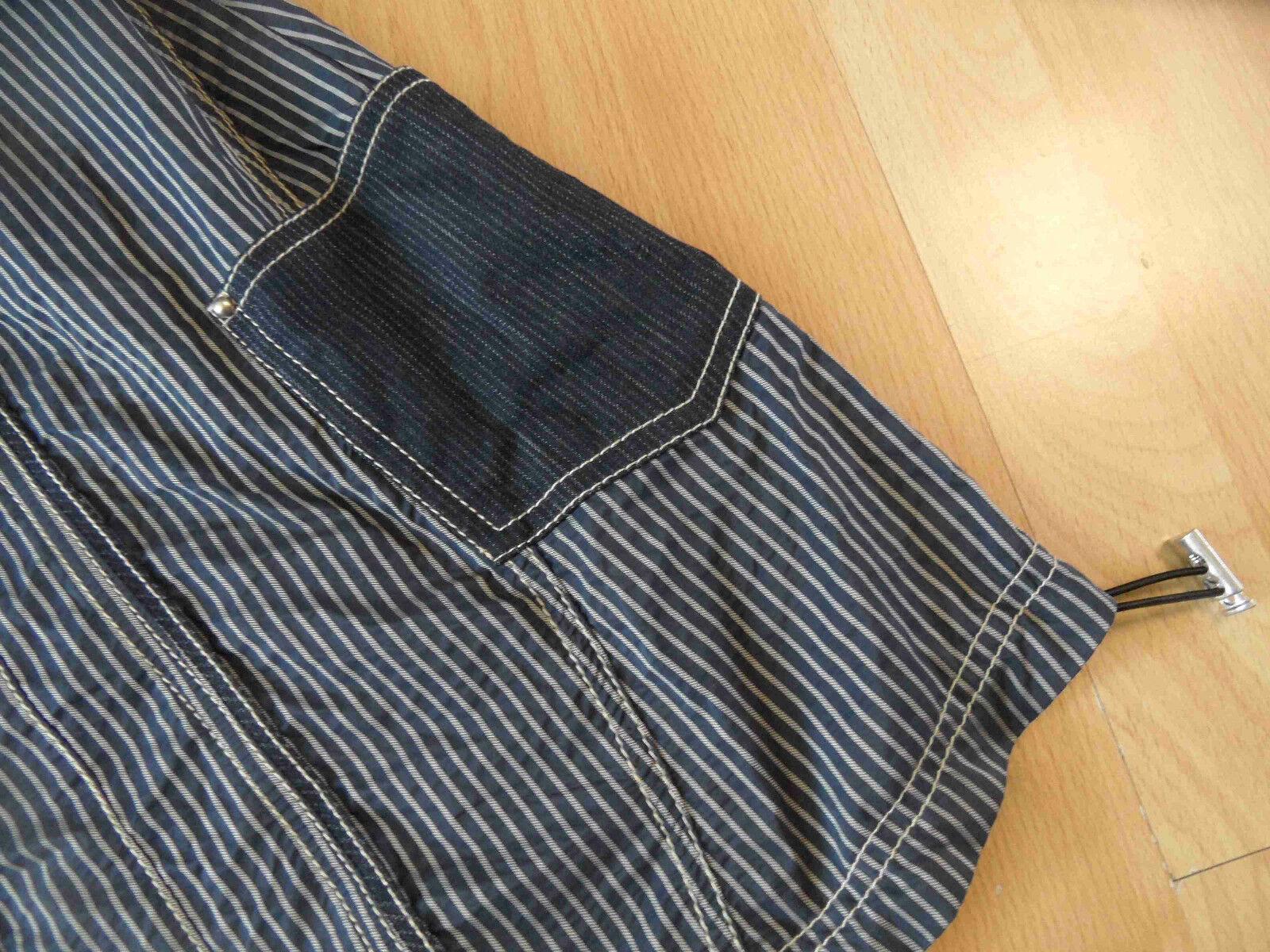 BIBA tolles gestreiftes ärmelloses Kleid black grey Gr. 36 N N N f05180