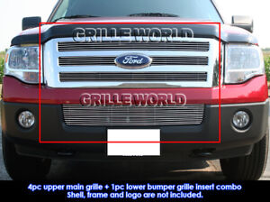 Fits-2007-2014-Ford-Expedition-Billet-Grille-Combo-Insert