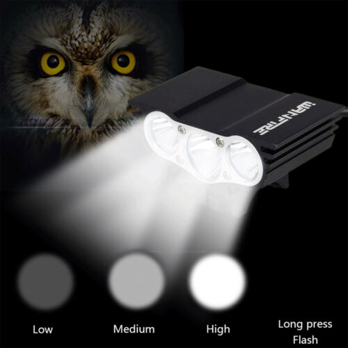 Details about  /3x CREE XM-L T6 LED Bicycle HeadLight Cycling Front Flashlight Rear Lamp Light