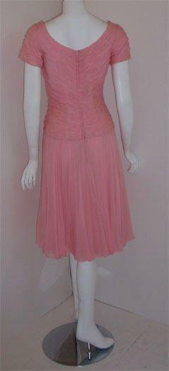 CEIL CHAPMAN 1960s Pink Chiffon Bodice Cocktail D… - image 4
