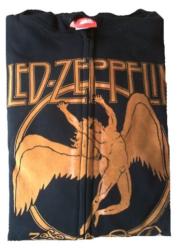 Zip Song Led Zeppelin Jacket Ufficiale Bravado Hooded Vintage Swan Fantastico qXA0waTX