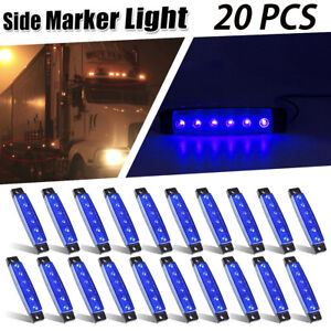 Color : Green 6Pcs 12V 8 LED Truck Trailer Side Marker Lights Indicator Lamps