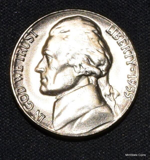 1955-P BU Jefferson Nickel Free Shipping & Satisfaction is Guaranteed