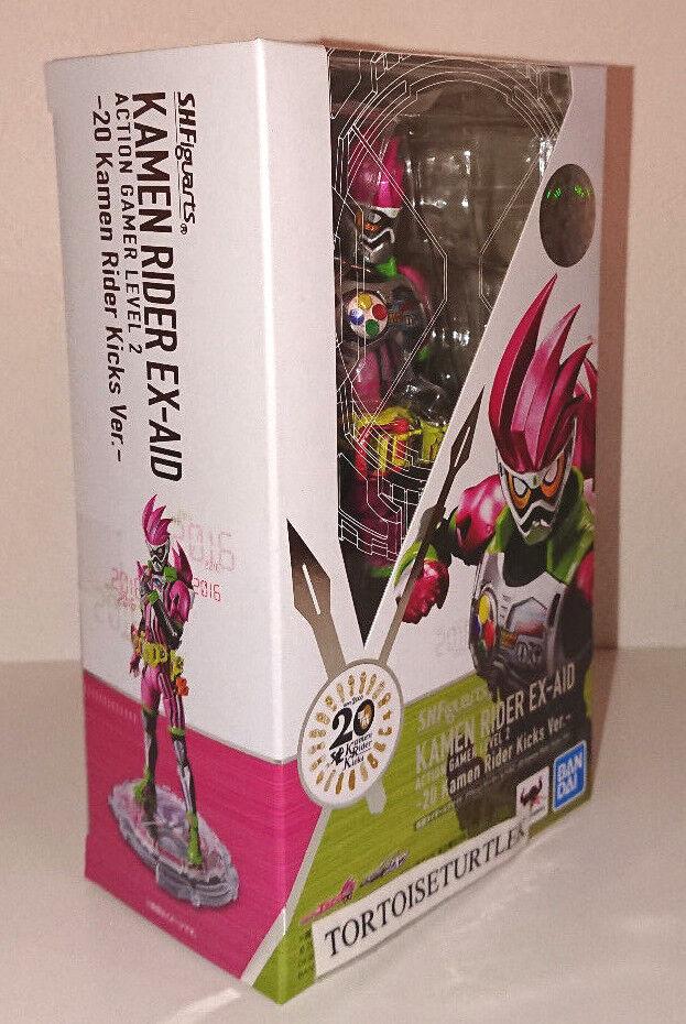 S.H. Figuarts Kamen Rider ex jugador de acción de ayuda nivel 2 20 Rider Kicks AcciónFigura