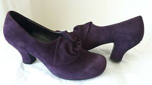 HOTTER-DONNA-SUEADE-PLUM-PURPLE-COURT-SHOES-SIZE-UK-7-5-EXF-WORN-ONCE