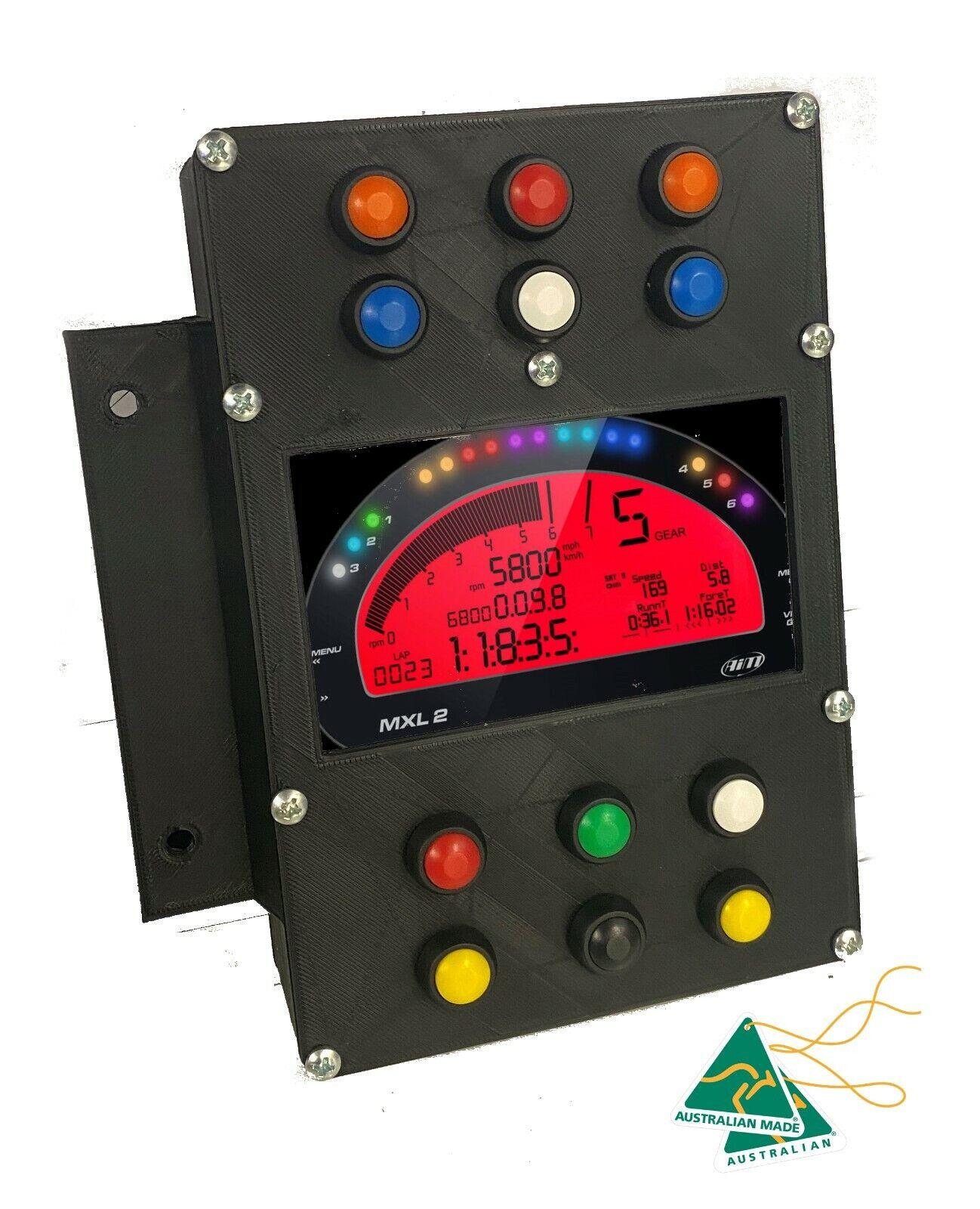 Dash Display Dashboard Button Box For Sim Racing Games Data LCD Motec Dash panel