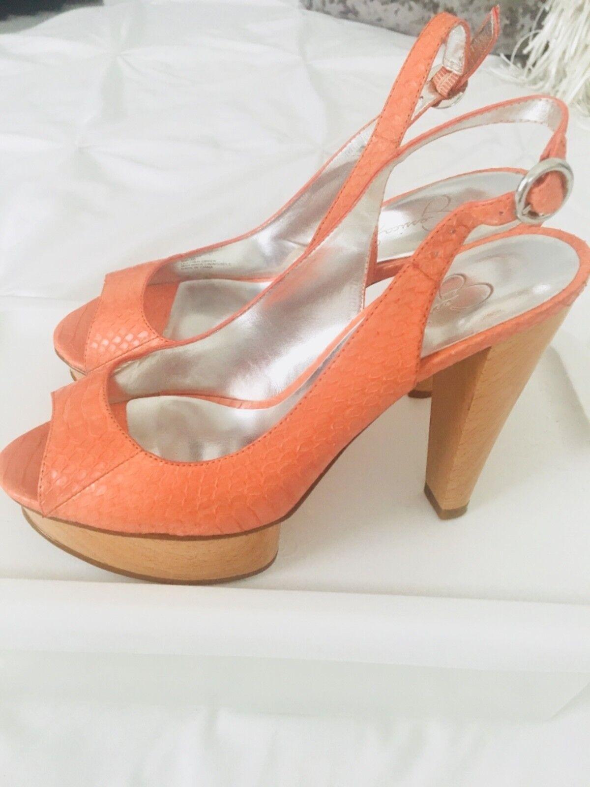 Jessica Simpson Simpson Simpson Bonee Heel Metallic Orange Sz 6 926af3