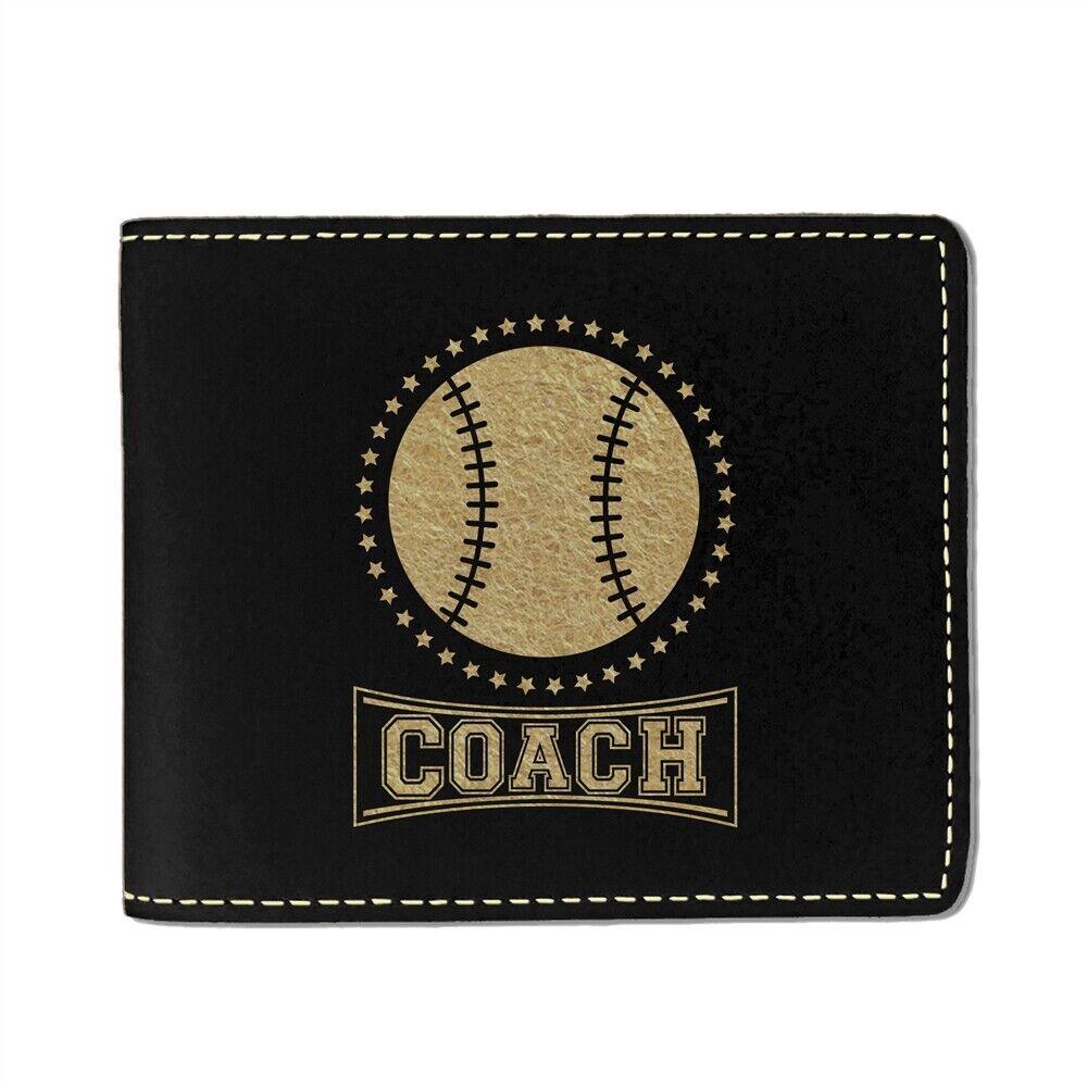 Faux Leather Wallet, Baseball Coach