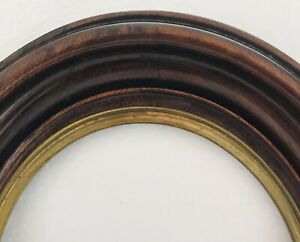 Antique-Victorian-Walnut-Oval-Primitive-Arts-amp-Crafts-Painting-Picture-Frame