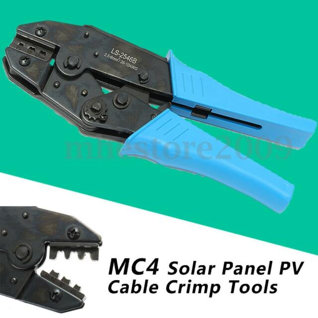 Mc4 Solar Panel Cable Connector Crimping Pliers Terminal Ratcheting ...