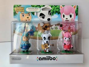 Cyrus, K.K. Slider, Reese Amiibo (Animal Crossing, Nintendo) - Brand New, Sealed